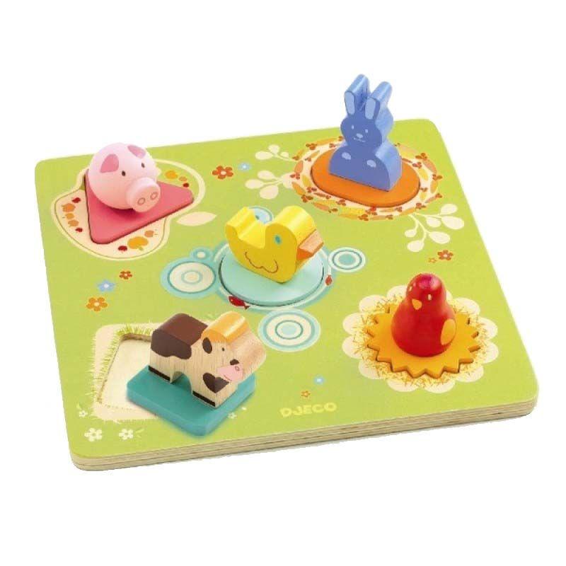 Puzzle de Encaixe Pato e Amigos