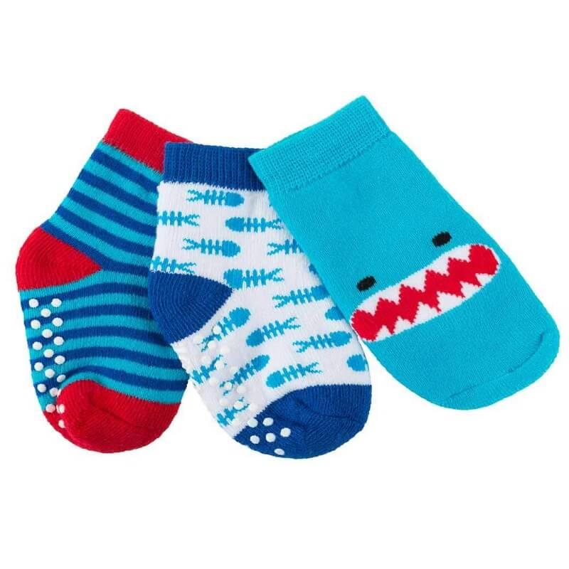 Pack 3 Pares Meias Antiderrapantes Tubarão