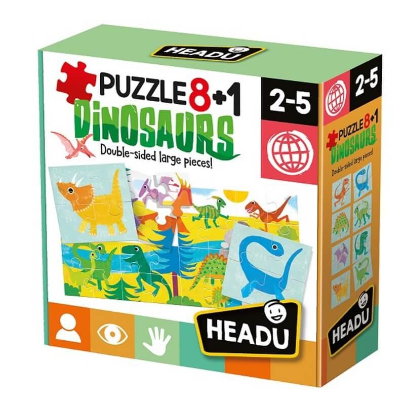 Puzzle 8+1 Dinossauros
