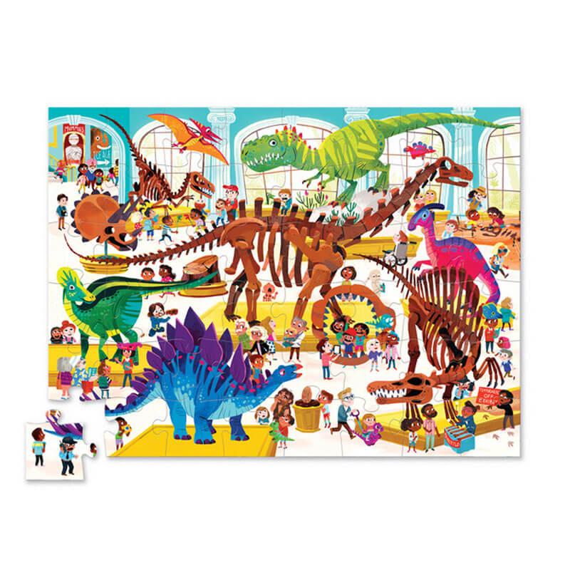 Puzzle Dia no Museu Dinossauros