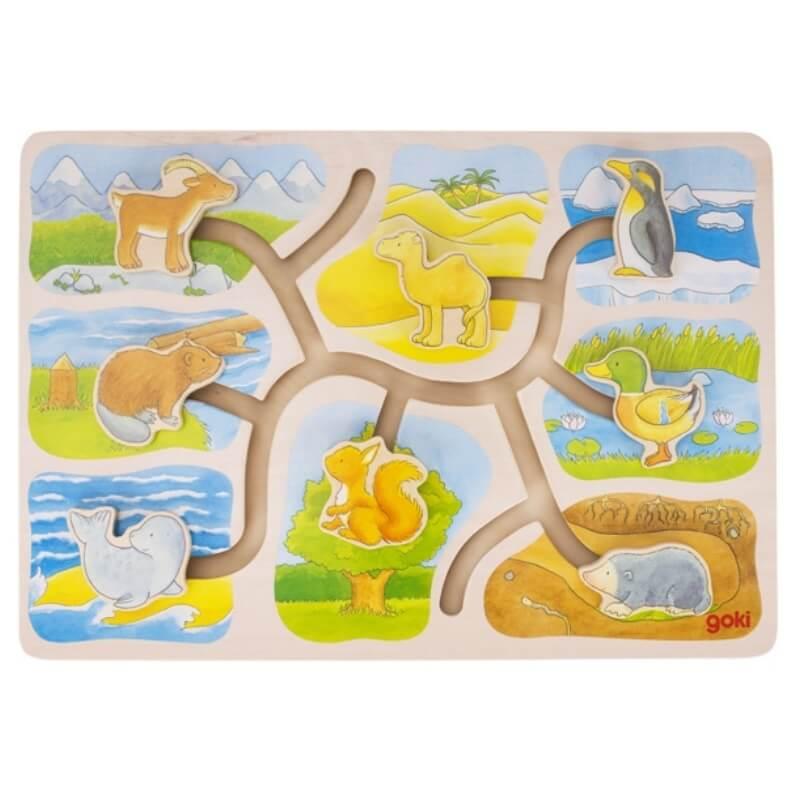 Puzzle Deslizante Habitat