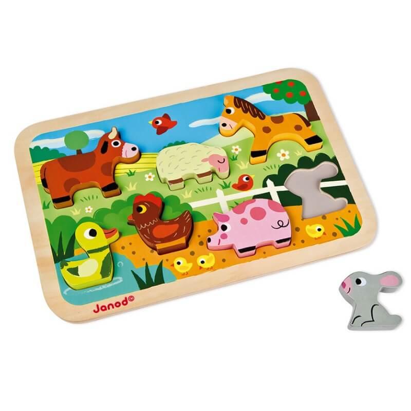 Puzzle de Encaixe Animais da Quinta