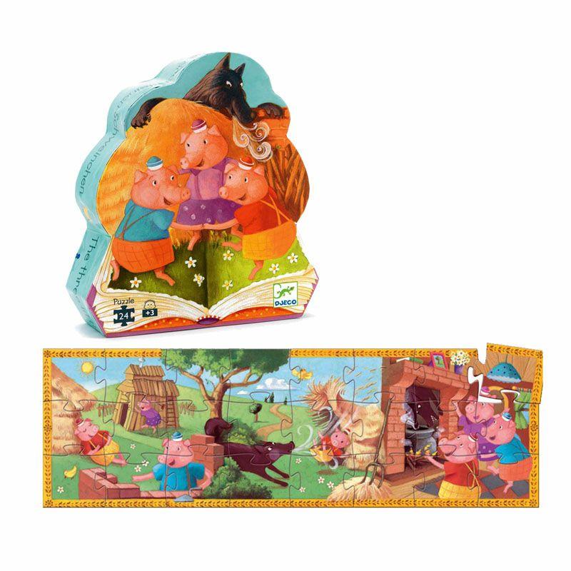 Puzzle Silhueta 3 Porquinhos