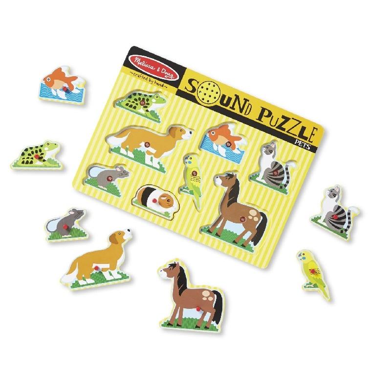 Puzzle de Encaixe com Som Animais Domésticos