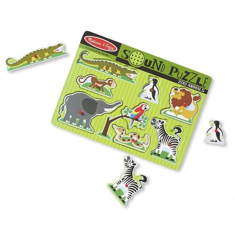Puzzle de Encaixe com Som Animais da Selva