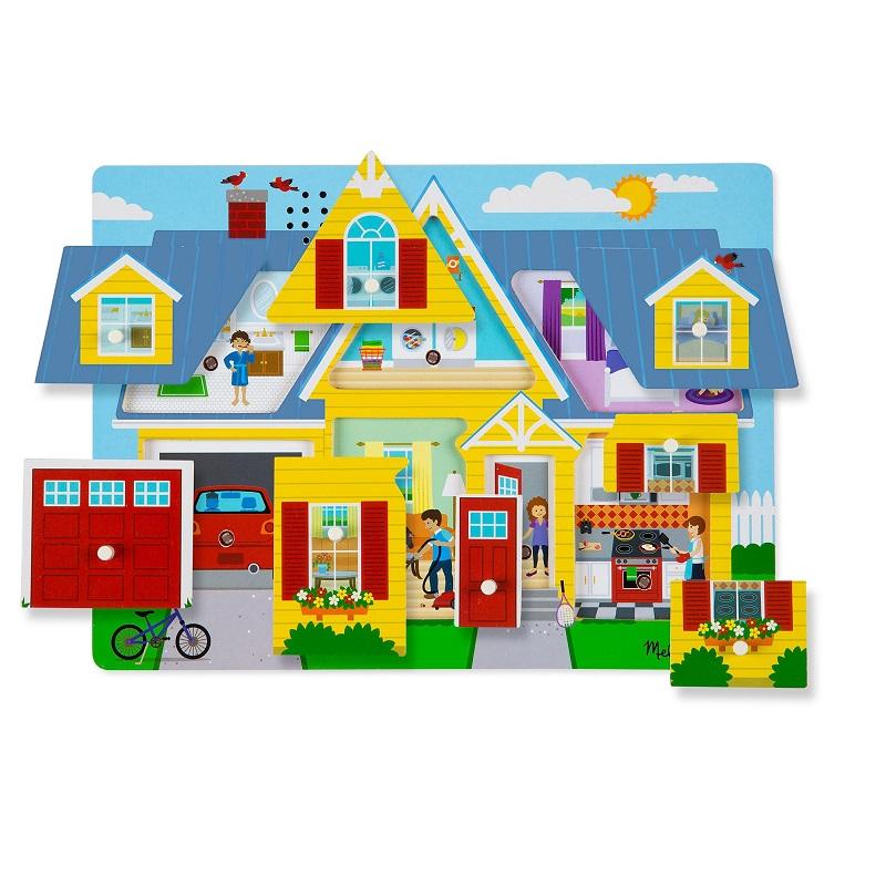Puzzle de Encaixe com Som Casa