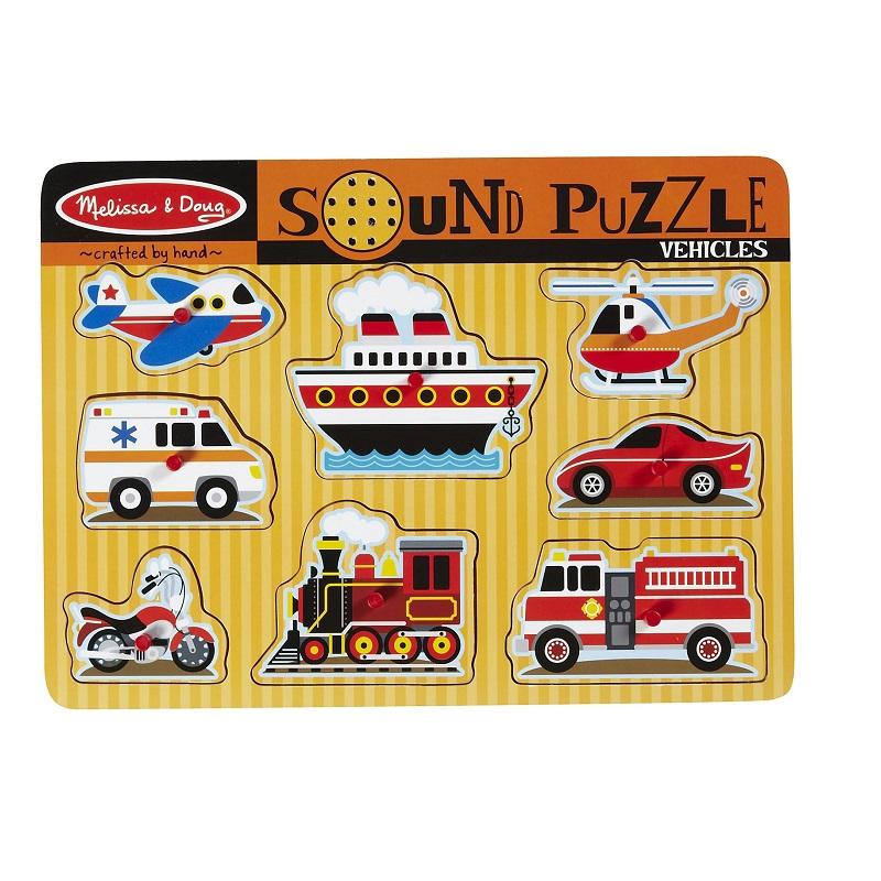 Puzzle de Encaixe com Som Veículos