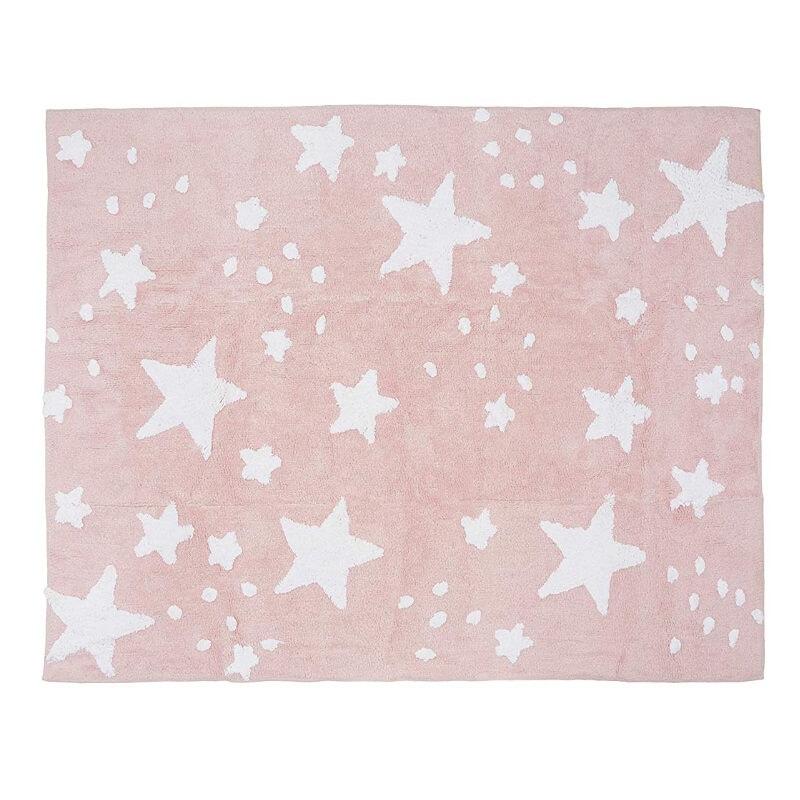 Tapete Chuva de Estrelas Rosa