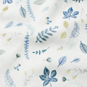 Manta Pressed Leaves Blue