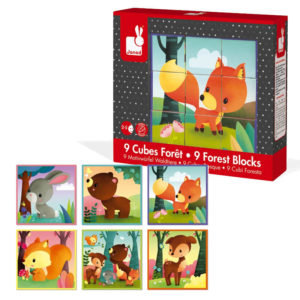 Puzzle de Cubos Animais do Bosque