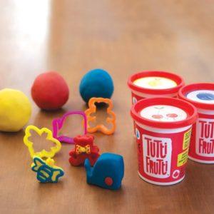 Plasticina Tutti Frutti 3 potes + Moldes