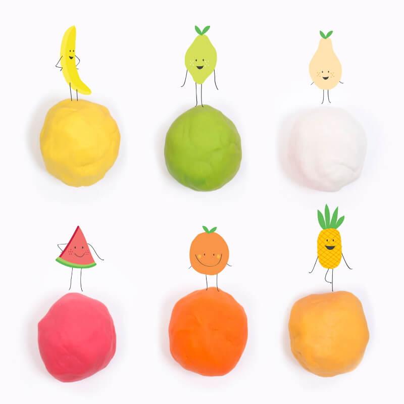 Plasticina Tutti Frutti Set Aromas Tropicais