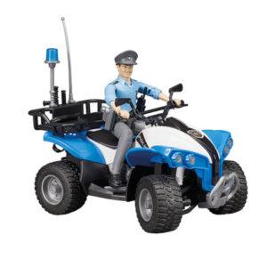 Bruder Moto 4 com Polícia