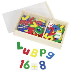 Números e Letras Magnéticas Madeira